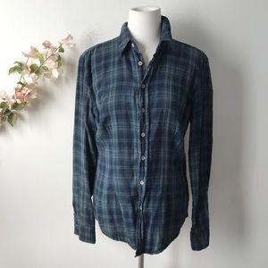 CP Shades Button-Down Plaid Top Shirt